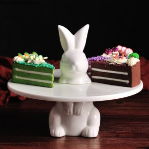 Creative lovely rabbit Cake tray Fruit tray Cake stand Decorative plate wedding Thanksgiving Christmas Decoration