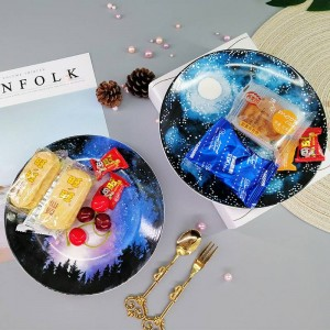 Creative Star plate ceramic jewelry storage tray cake dessert dish home organizer decoration fruit plate