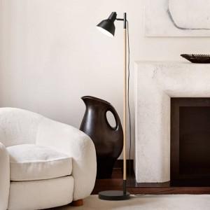 Creative wood floor lamp Japanense style stand lamp for living room bedroom black white art home decoration lighting