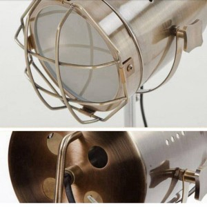 Creative wood tripod chrome floor lamp search stand lamp living room bedroom new design art home decoration lighting