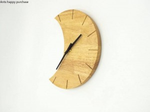Creative Wooden wall clock Simple be quiet living room bedroom moon clock wall clock modern design wall home decor