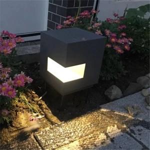 Cube type Aluminum led Lawn Lamp Outdoor Courtyard Lighting Garden Villa Landscape light Lawn lights Waterproof Street Lamps