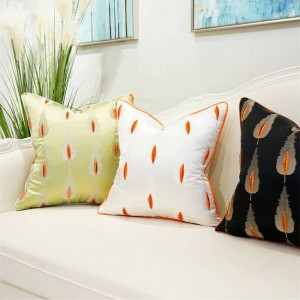Customize Luxury Chic Cushion Cover Cut Leaf Pillow Cover Decor Pillows Coussin For Home Office Cojines Decorativos Para Sofa