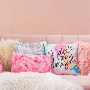 Cute Girl Lips Cushion Cover Embroidery Window Grille Car Covers Coussin Sofa Home Decor Pillow Case Festival Almofadas Cojines