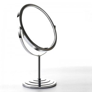 Desktop double sided makeup mirror simple European style home 6/7/8 inch metal round magnify dressing table mirror mx01111018