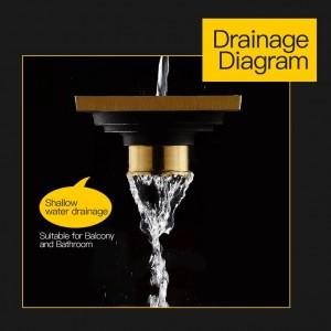 Drains 10*10cm Solid Brass Chrome Silver Shower Drain Bathroom Square Cover Anti-odor Hair Strainer Balcony Floor Drain LAD-8109L