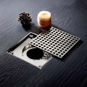 Drains 10*10cm Square Stainless Steel Bathroom Kitchen Floor Drain Cover Strainer Deodorant Linear Drain Grate Waste LAD-811539SN