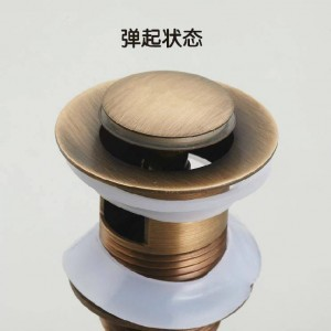 Drains Antique Brass Pop Up Sink Drain Stopper Without Overflow Bathroom Lavatory Faucet Pop-up Drain With Overflow ZLY-6910