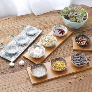 Dried fruit plate ceramic snacks snack plate Japanese restaurant tableware creative snacks fruit plate sauce dish with dish