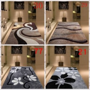 Encrypted thickening bright silk living room coffee table bedroom bedside carpet simple modern Nordic style pattern carpet
