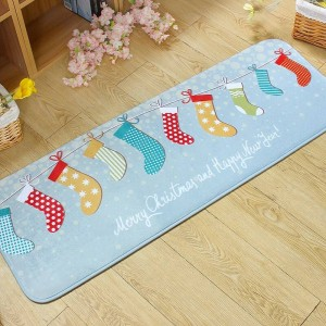 Entrance Doormats Cartoon Flannel Door MAT Cute Snowmen Printed Carpet Living Room Bedroom Floor Mats Kitchen Christmas Rugs