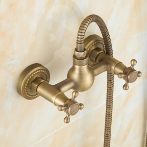 Euro design antique bronze smart shower kit bathroom bathtub faucet shower hand shower head