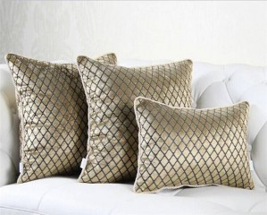 "Europe 45"" 50"" Jacquard lattice Pillowcase luxury/Elegant/Home/Sofa/Grid/Car Decor Cushion /PillowCases"