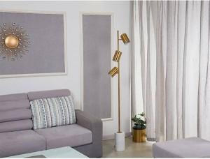 Europe Simple Creative Stand Floor lamps Designer Metal Marble Living room Bedroom Standing lamp Iron lustre Lighting fixture