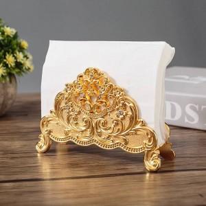 Europe Style Table Tissue Holder Napkin Rack Stand Metal Art Craft Home Decoration Hotel Restaurant Desktop Cafe Ornaments Gift