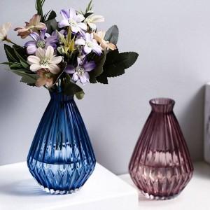 European Dried Flower Glass Vase Flowers Glass Bottle Living Room Decoration