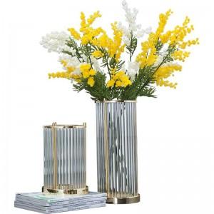 European Home Creative Crystal Glass Vase Decoration Modern Dried Flower Flower Arrangement Ornament Decoration