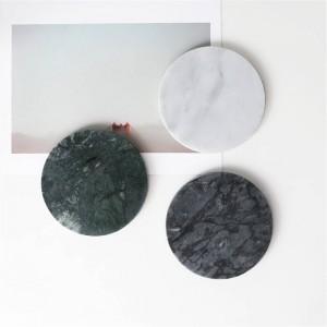 European Marble Pattern Office Table Storage Plate Chic Minimalist Scandinavian Nordic Ceramic Desk Storage Tray Organizer Decor