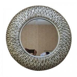 European Mirror Antique round Bathroom Mirror Feather Shape Decoration wall bathroom sinks mirror