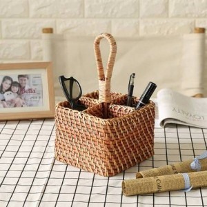 European pastoral home desktop remote control storage basket Living room bedroom cosmetics decorative storage basket