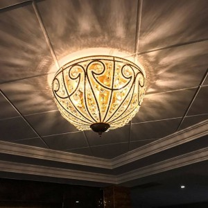 European-style country ceiling lamps Vintage iron living room lamp restaurant lighting rustic bedroom lamp crystal ceiling light