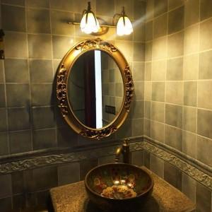 European Style Elliptical Wall Hanging Bathroom Mirror American Bathroom Toilet Mirror Mediterranean wall decorative mirror