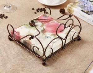 European-style iron paper towel rack kitchen, dining room storage napkin holder new bronze retro paper towel rack