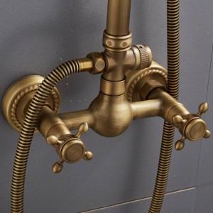 European-style retro antique copper shower shower set shower tub shower faucet XT305