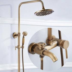 European-style retro three-speed quick-release shower shower full of copper antique shower shower set XT303