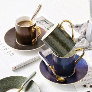 European Style Starry sky pattern coffee cup set ceramic tea cup of afternoon tea dish spoon with household gifts