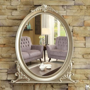 European wall hanging bathroom mirror bathroom makeup mirror decoration porch bedroom vanity mirror wx8231352