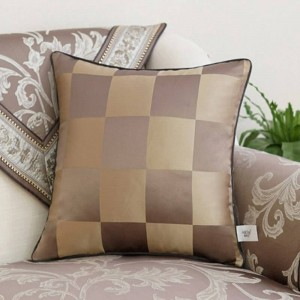 Europen Jacquard Cushion Cover Luxury Pillow Cover Skin-friendly Breathable Ramadan Decoration Housse De Coussin Coffee Coussin