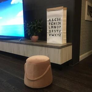 Fabric Stool Living Room Modern Kids Footstool