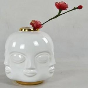 Face Ceramic Vase American Neo-classical Desktop Face Three-piece Ceramic Vase Home Decoration Ornaments Jewelry