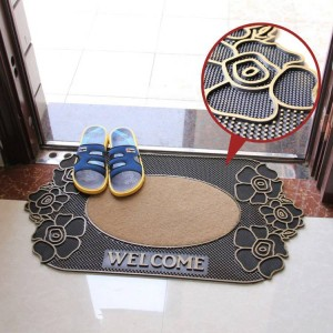 Fashion Slip-resistant Mats Doormat Plastic Rubber Mat Carpet