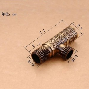 "Faucet Replacement Parts 1/2""malex 1/2"" male Antique Brass Toilet Angle Valve Filling Triangle Valves Water Stop Valve HJ-0316F"