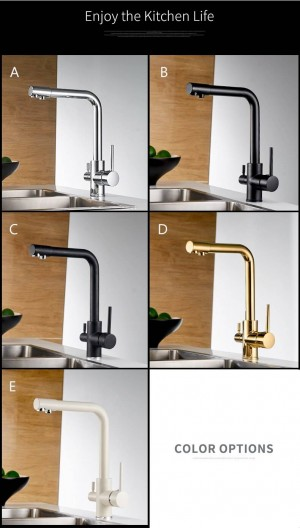 Filter Kitchen Faucets Grifo Cocina Mixer Tap 360 Rotation with Water Purification Features Mixer Tap Crane For Kitchen LAD-0175