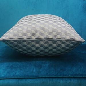 Flannel-dyed Cushion Cover Fashion Grey Blue Square Simple Cojines Decorativos Para Sofa Christmas Car Cover Home Throw Pillows