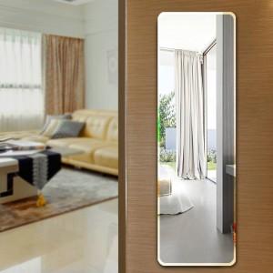 Floor mirror full-length dressing mirror wall hanging paste simple frameless mirror bedroom wardrobe fitting mirror wx8241113