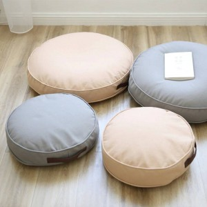 Floor Sitting Cushion Footstool Janpanese Round Seating Sofa Pouf Foot Leg Rest Step Stool Pillow for Kids Adults Size 40cm/60cm