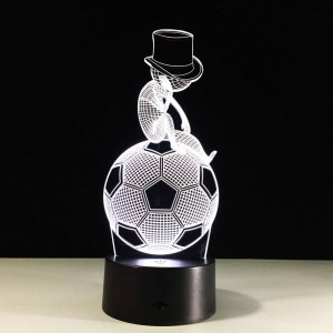 Football 3D LED Touch nightlight 7 Colors changing 3D Visual Led Night Light Kids USB table lamp Baby Sleeping lamp for bedroom