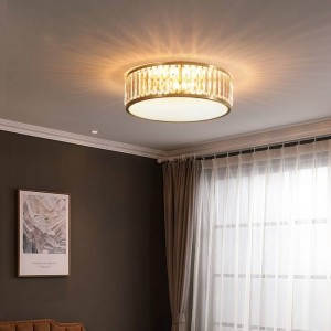 Foyer Parlor Led Crystal ceiling light fixtures work office study led Circular lighting lampara Bedroom reading ceiling Lamp