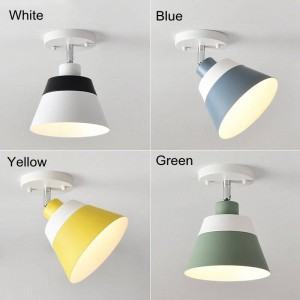 Free adjustable macaron LED ceiling lights modern simple colorful family corridor decoration surface mounted LED lamp