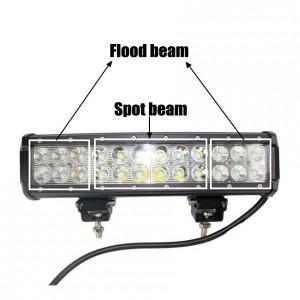 72W LED Work Light Bar 24 X 3w led chip Flood Spot Beam Spotlight Offroad Light Bar Fit ATV outdoor light