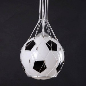 Foottball lamp soccer ball light pendant lamp children room glass hanging light kids Christmas Gifts boy's present