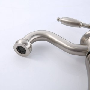 Modern classic nickel wire drawing the latest basin lamp hot and cold water faucet LAD-406