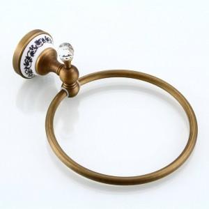 Towel Rings Solid Antique Crystal Towel Ring Towel Holder Towel Bar Bathroom Accessories 9211K