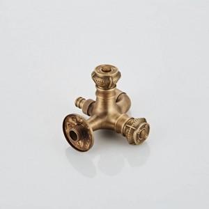 Dual Cross Handles Wall Mounted Washing Machine Taps Antique Brass Mop Pool Faucets XSQ1-19