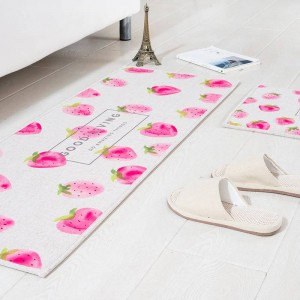 Fruit pattern MAT Square Cushion Kitchen Door Pad Bathroom Non-slip Remove dust Door Mats Table Carpet Bedding watermelon rugs