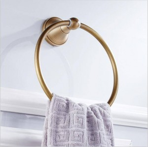 Full copper round European antique brushed old round towel ring 9041K